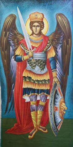 Religious Icons, Religious Art, Paint Icon, Byzantine Art, Archangel Michael, Jesus Cristo, Orthodox Icons, Angel Art, St Michael