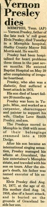 Vernon Presley