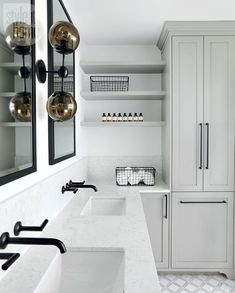 Modern Spa Bathroom Design Ideas despite Small Bathroom Design Blueprints or Diy Design Small Bathroom across Bathroom Faucets Sets White Subway Tile Bathroom, Gray And White Bathroom, Small Bathroom, Bathroom Ideas, Bathroom Remodeling, Budget Bathroom, L Shaped Bathroom, Bathroom With Double Vanity, Bathroom Built Ins