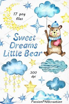 Sweet Dreams Clip Art by PassionPNGcreation on @creativemarket