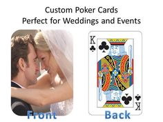 Personalize your own deck of cards instantly with our service professionals. We just had two orders placed this week alone one order an order of 50 for a wedding reception party pack and the other order was for a birthday party. Go ahead and place your order today and just send us your favorite images and we will process your request promptly.