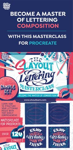 Learn the art of composition for your lettering pieces with this highly comprehensive Lettering Masterclass for Procreate!