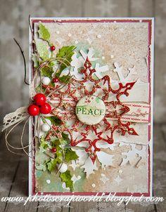 Witajcie, Hello,  dzisiaj chciałam, Wam pokazać kilka kartek świątecznych, w rożnym stylu. Bardzo lubię Boże Narodzenie i kartki św...