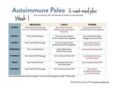 Autoimmune Paleo 2-Week Meal Plan! - Autoimmune Paleo