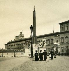 Italy Roma Palazzo Reale old NPG Stereo Photo 1900