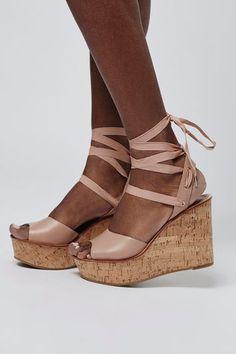 5300d6be97e649 tan ankle wrap platform sandals Wedge Shoes