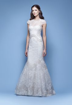 """Carolina Herrera """"Jessica."""" For more information contact The White Room at (205) 970-6767."""