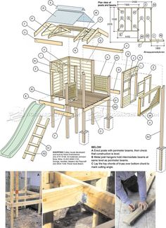 #3072 Backyard Playhouse Plans - Children's Outdoor Plans