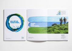 Love what they did with this graphic. Leaflet Design, Booklet Design, Graphic Design Brochure, Brochure Layout, Design Editorial, Editorial Layout, Corporate Design, Painting On Photographs, Layout Design