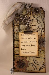 Lone Wolf Designs: Tim Holtz 12 Tags of 2013...January