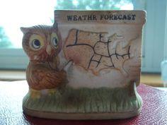 Vintage Weather Owl Figurine