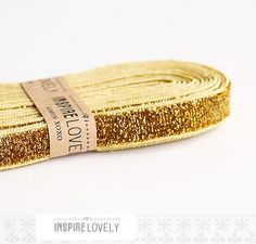 gold glitter ribbon could glitter up some chacos