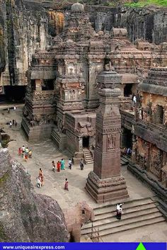 Incredible India ! Ellora cave complex in Maharashtra, India.