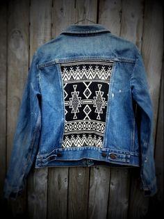 DIY jean jacket.