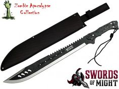 Zombie Apocalypse Machete! I think I might get this for Dave for Christmas