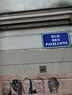 La rue des Pavillons (Paris 20ème)