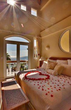 19 original decorating ideas for a romantic bedroom - Bedroom ideas - Romantic Hotel Rooms, Romantic Master Bedroom, Stylish Bedroom, Dream Bedroom, Romantic Bedrooms, Master Suite, Dream Rooms, Contemporary Bedroom, Modern Bedroom