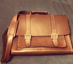 """Well hello beautiful new leather messenger bag. """"Suits you sir"""" apparently by phillymhb"""