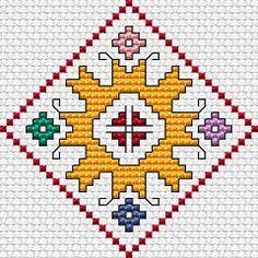 Summer Motif cross stitch pattern