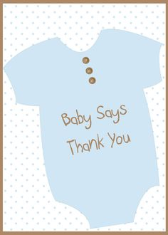 Blue Stroller Thank You Card  Baby Shower Thank You Cards