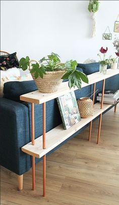 Tuto: Make a design wooden sofa behind - DIY Decor Ideas Furniture, Farm House Living Room, Interior, Wooden Sofa, Diy Apartments, Home Decor, House Interior, Home Deco, Home Diy