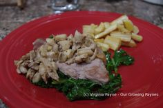 Pork with Mustard, Mushrooms, and Kale | Our Growing Paynes