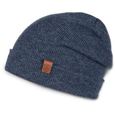 Bickley and Mitchell Merino Wool Turncuff Beanie ($58) ❤ liked on Polyvore featuring men's fashion, men's accessories, men's hats, indigo and mens beanie hats