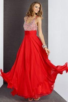 2015 Prom Dresses A Line Floor Length Chiffon Zipper Up Back With Beading/Sequins US$ 149.99 NPSPSX6RKPE - NewPromShop.com