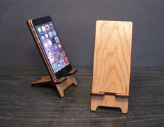Universal Wood Smart Phone Stand Wooden Docking by PhoneTastique