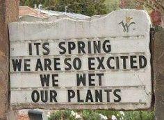 Peed my plants