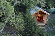 Tiny Spiritual Retreat Cabins.
