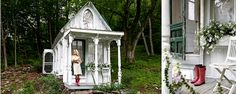 A Dreamy Victorian Cottage. Hunting Cabin, Victorian Cottage, Flea Market Finds, Tiny House, Gazebo, Sweet Home, Outdoor Structures, Garden Sheds, Image