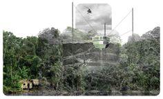 Tercer Lugar en Concurso de Ideas Nature Observatory of Amazonia (NOA) / Brasil,Cortesia de Aida Salán