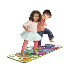 Twist, dance, leap, laugh, count and learn with the Learn and Groove™ Musical Mat over 4-feet of interactive Playmat for jumbo-sized learning fun. Designed especially for active toddlers, the Learn and Groove™ Musical Mat keeps little ones moving and exploring with 50+ songs and phrases and 3 ways to play. Little ones can discover numbers, animals and instrument names as they jump around the mat in Explore mode. In Music mode, each step brings instrument sounds to life kids can jam...