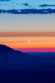 Crescent Moon Setting Over, Mt. St. Helens, by Bob du Bois, on 500px.