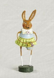 New for 2014 Babbette Bunny from Lori Mitchell! This darling bunny is ready for spring!   Available at Fairy-Tales-inc.com
