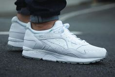 White Gel Lyte's with Grey Soles and Speckle.
