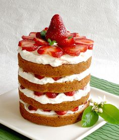 Strawberry Tall Cake