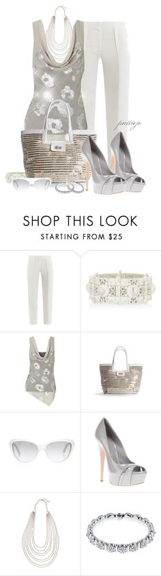 """""""Silver Summer"""" by rockreborn ❤ liked on Polyvore featuring Freda, Bottega Veneta, Kelly & Katie, Marc by Marc Jacobs, Casadei and John Lewis"""