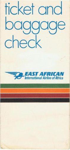 East African Airways Ticket Wallet