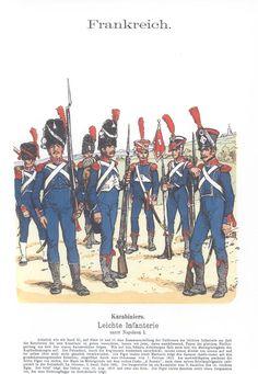 Band XII #49.- Frankreich. Leichte-Infanterie unter Napoleon I. Karabiniers.