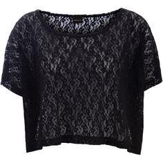 PIECES Oversize Lace T-Shirt ($7.23) ❤ liked on Polyvore featuring tops, t-shirts, shirts, crop tops, black, crop top, crop t shirt, crop tee, black crop tee and lace shirt