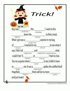 printable halloween mad libs for kids - Halloween Quiz For Kids