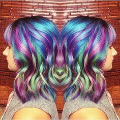 Bright Rainbow Hair color Artist to come. mermaid hair unicorn hair hair painting