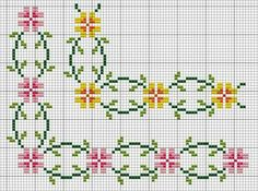Cross stitch border.