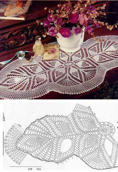 Filet Crochet, Crochet Doily Diagram, Crochet Doily Patterns, Crochet Chart, Thread Crochet, Irish Crochet, Crochet Motif, Crochet Designs, Crochet World