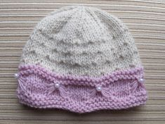 Knitting Pattern 71 Baby Hat with a Butterfly por handknitsbyElena