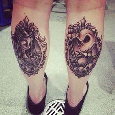 Nightmare Before Christmas Jack and Sally tattoos