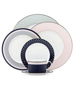 kate spade new york Dinnerware, Mercer Drive Platinum Collection - Fine China - Dining & Entertaining - Macy's