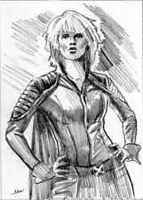 Storm X-Men ACEO Sketch Card by Jeff Ward #x-men #storm #sketchcard #aceo